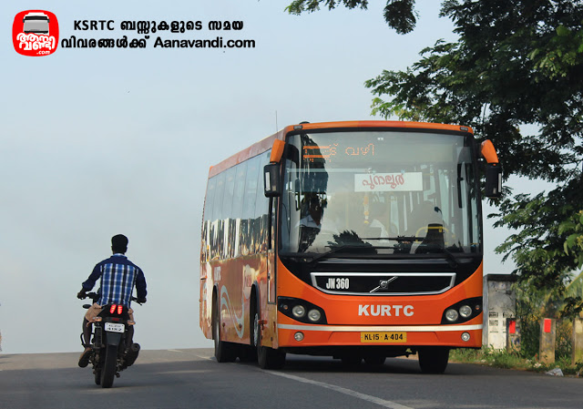 JN 360 KURTC Kollam Punalur Low Floor Volvo Bus